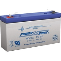 Powersonic PS612 6V 1.4AMP SLA Battery F1 Terminal Sealed Lead Acid
