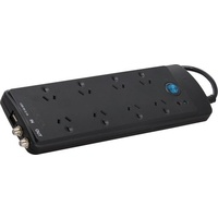 Multi-Media Protected Powerboard 8-Way Jackson 2.1 Amp USB charger with 2 outlets
