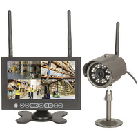 "4 Channel 7"" LCD DVR and 1 x 720p Camera Kit with Ethernet"