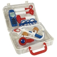 Doctor Case with Sounds For Child to Play Doctor Stethoscope Reflex Hammer & More Kit