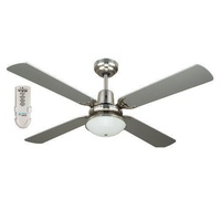 FIAS Ramo 48 inch ceiling fan with light & remote Silver