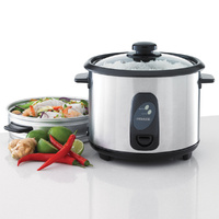 HELLER 1.8L Stainless Steel Rice Cooker Steamer