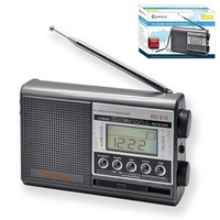 Sansai AM FM SW 10band World radio AC & DC Operated with Alarm Clock & Time