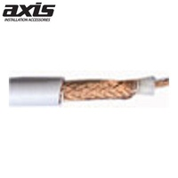 AXIS 50 Ohm RG58 Low Loss White Shielded Coaxial Cable 100m Roll
