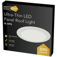 8W Ultra-Thin LED Panel Roof Light,165mm, Cool White