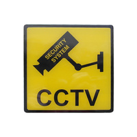 CCTV Security Sign Colour: Yellow And Black doss
