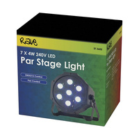 7 x 4W RGB LED Par Stage Light DMX512 control Built-in program