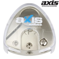 AXIS  Positive Battery Terminal Accepts 1 x 4GA & 2 x 8GA Cable Nickel Plated Series