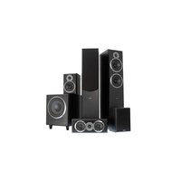 Sherwood TEATROBLACKPACK 5.1 Home Theatre Speaker System with Black Woodgrain Finish