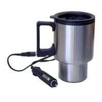 Stainless Steel Travel Heated THERMAL MUG 12 V DC