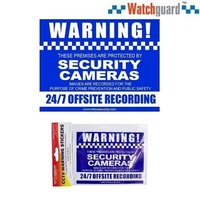 4 x Rear Adhesive CCTV Warning Stickers