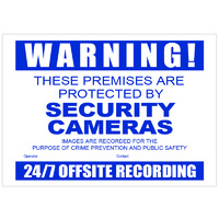 CCTV Security Warning Sign Corflute A3Size
