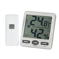 Hygrometer with Jumbo LCD Display 8 Channel wireless Thermometer for indoor & outdoor temperature