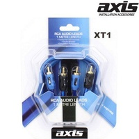 AXIS 1m Twisted Pair Double Shielded RCA Stereo Audio Cable Male to Male