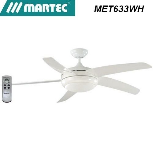 Martec envirofan 5 blade curved white dimmable 40w 2c flouro light remote ceiling fan martec - Curved blade ceiling fan ...