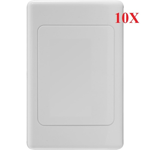 10X White Wall Plate Blank Wallplate BlankPlate Outlet Cover for Light Switch