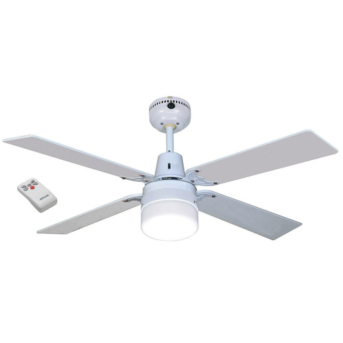 HELLER 4 Blade Ruby Ceiling Fan With Light Remote