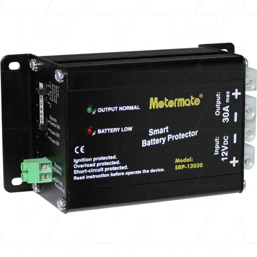 Motormate 12v 30a Max Smart Battery Protector Protects