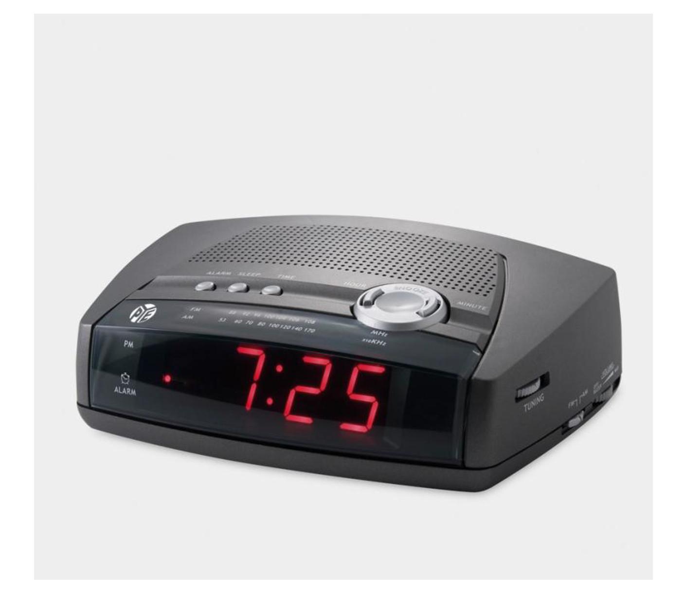 pye am fm alarm clock radio. Black Bedroom Furniture Sets. Home Design Ideas