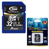 Team SDHC 32GB xTreem UHS-1 85MB/s Memory Card life time warranty