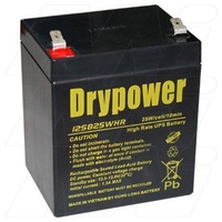 Drypower 12SB25WHR 12V 5Ah SLA Battery for Standby UPS.Suit 12FGH23 12FGHL22