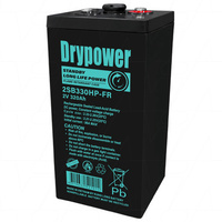 Drypower 2SB330HP-FR 2V 320Ah Long Life Standby AGM SLA Battery