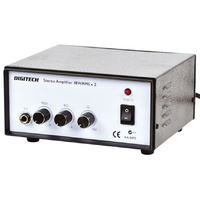 DIGITECH 18W X 2 CHANNEL Mains Powered Audio  Amplifier  ideal as a small office or workshop PA amp