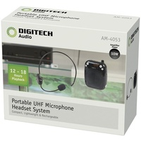 Portable Wireless UHF Microphone Headset System