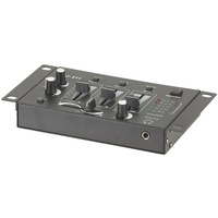 Compact DJ Mixer 3 Channel 1/4 Headphone Socket Coloured LED Output Display