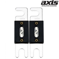AXIS 100Amp ANL Hi-Current Fuse Pack of 2 ANL Fuse Suits Extreme Current Flow Situations