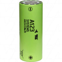 A123SYSTEMS ANR26650M1B LiFePO4 High Current Type Cylindrical Battery 3.3V 2.4Ah