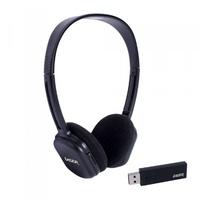Headset Stereo Wireless 2.4GHz Adjustable volume control and built in microphone