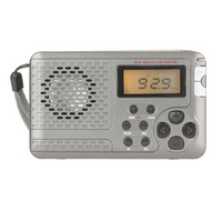 backlit LCD screen Multiband FM MW SW TV Pocket Radio with Alarm clock for camping and fishing