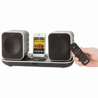 2.4GHz Wireless Stereo Speaker System with Apple Dock and Induction Charging