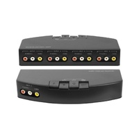 AV Selector 3 Way AV RCA composite Switcher 3 Inputs and 2 Outputs
