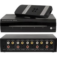 4 IN 1 OUT RCA S-video AV SELECTOR with IR Remote