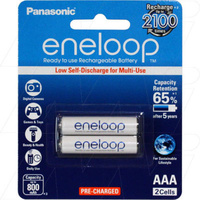 Panasonic Eneloop Ni-MH 1.2V 800mAH AAA Rechargeable Battery 2Pack