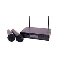 Redback UHF Wireless Microphone System 2 Ch With Two Handheld Mics