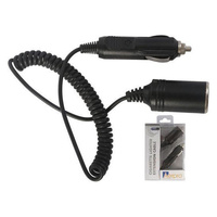 Car Cigarette Lighter Plug Male To Socket Female Extension 10A Curly Cord Extension 1m