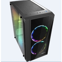 Casecom Gamming Front and Side Transparent Temper Glass Micro ATX with no PSU