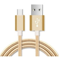 Astrotek 2m Micro USB Data Sync Charger Cable Cord Gold Color