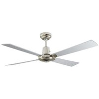 Martec Brushed Nickel 1200mm 4 Blade Alpha Ceiling Fan