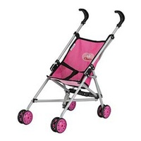 Chica Umbrella Stroller Doll Stroller with metal frame construction and seat belt Pink 3+