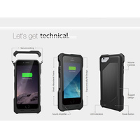 Ultra-thin Ultra-light external 4000mAh ruggedised extended battery case