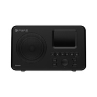 Pure Portable DAB+ Radio with USB Black 2.4-inch TFT Display