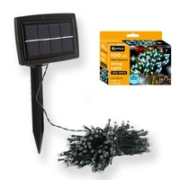 Outdoor Solar powered Bright LED White Color String light 100M Auto on