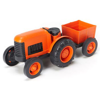 Green Toys - Tractor with orange hue /No BPA- phthalates-easy cleaning