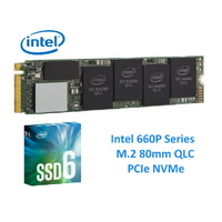 Intel 660P NVMe PCIe M.2 SSD 512GB 3D2 QLC 1500R 1000W Mbps 5 Years Warranty