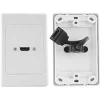 1X HDMI Vertical wall Plate Flexible Thin Wall Rear Socket