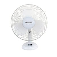 Heller 40cm Desk Floor Air Cooler Tilt Oscillating Cooling Fan White HHDF40S